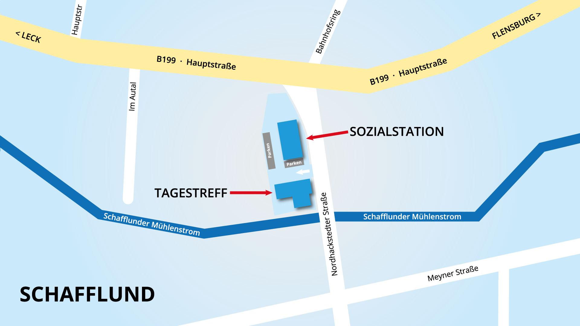 Sozialstation-Schafflund Anfahrtskarte